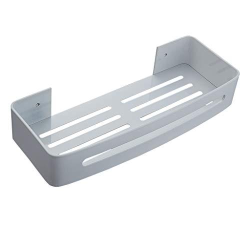 LILINPINGZWJ WeißEs Badezimmer-Ablagefach Regale Kein An Der Wand Befestigtes Ablage-Duschregal Aluminium Badezimmerablagen und-Regale
