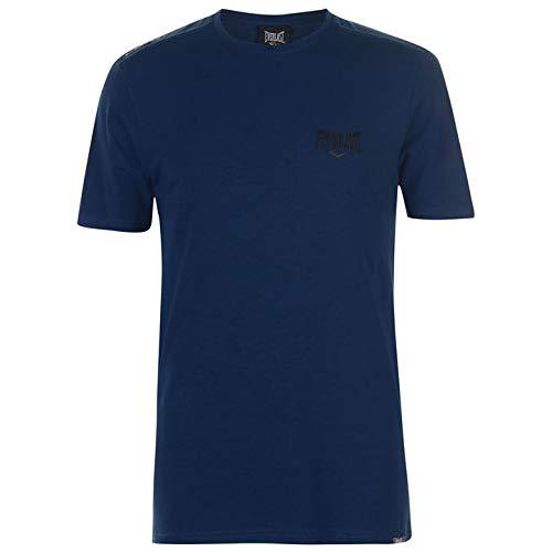 everlast tshirt Everlast Herren Logo T Shirt Kurzarm Rundhals Tief Blau M