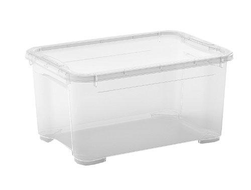 KIS Contenitore T-Box, Plastica Trasparente Resistente, Impilabile 38x26,5xh. 19 Cm