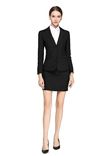 68dd8532cfa28 Rojeam Donna Elegante Tailleur Pantalone Tailleur Gonna Classico per  Ufficio Donna Giacca Camicia per Primavera Autunno