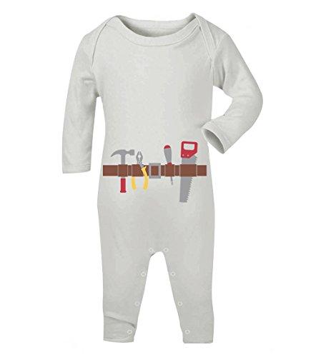 eval und Halloween Kostüm Baby Strampler Strampelanzug 6-12 Monate (67/76) Weiß (Schnelle Und Einfache Halloween Kostüm Ideen)