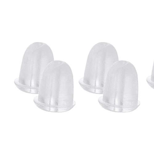 Premium Qualität 100pcs Gummi Ohrring zurück Plug Cap Clear Soft Silikon Antiallergic Sicherheit Ohrstecker Stopper OhrstöpselCarry Stone -