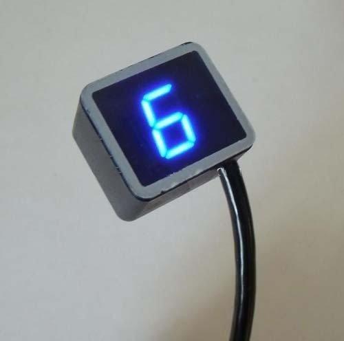 ZJchao (TM) 8 Speed Universal LED Digital Ganganzeige Motorrad-Schalthebel Sensor