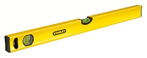 Stanley Wasserwaage Klassik (200 cm Länge, horizontale/vertikale Libelle, Schockabsorber, Genauigkeit ±0,5 mm/m) STHT1-43109