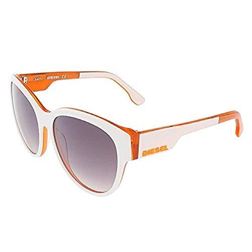Diesel Unisex-Erwachsene DL0013 24C-57-16-135 Sonnenbrille, Weiß, 57