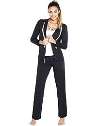 4f36cbc864fd Adriana Arango 3 Piece Women s Sportswear Set Hoodie Zip Jacket Tank Pants