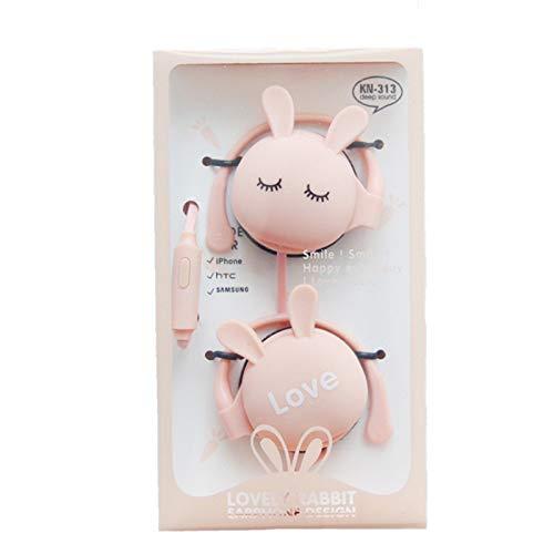 Lindo Conejo Dibujos Animados Auriculares estéreo