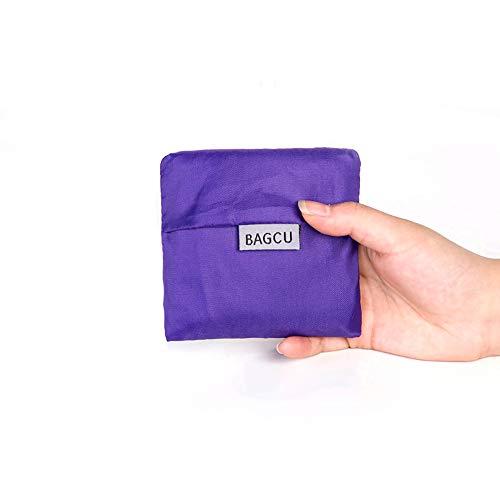 Hilai Wiederverwendbare Einkaufstaschen Einkaufstasche Faltbare in Festen Händen Tasche Wiederverwendbare Einkaufstaschen (Lila) 1 PC