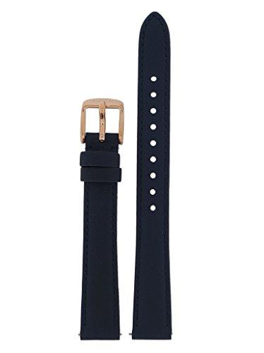 Fossil Uhrband Wechselarmband LB-ES3843 Original Ersatzband ES 3843 Uhrenarmband Leder 14 mm Blau - Damen Kleidung : Uhren Blau