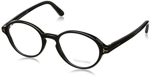 Tom Ford Unisex-Erwachsene Ft5409 Brillengestelle, Schwarz (NERO LUCIDO), 48