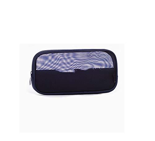 Fashion 3-teilige Kosmetiktasche für Damen, tragbar, Make-up-Tasche, Kulturbeutel, Reise-Set, Organizer, Unisex navy