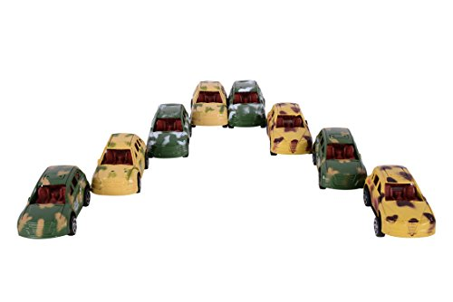 Planet Of Toys Military Vehicle Set - 8 Cars For Kids / Children