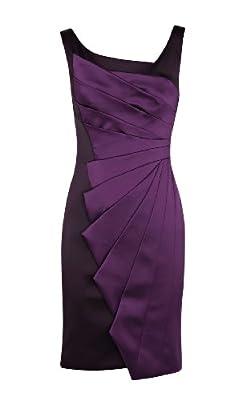 KAREN MILLEN Purple Satin Wiggle Dress DL025