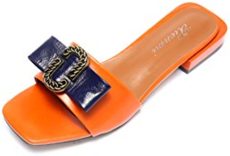 QIN&X Damen Sandalen Low Heel Flip Flop