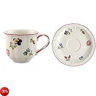 villeroy & boch petite fleur espresso-tazza da tè con piattino 2 tlg