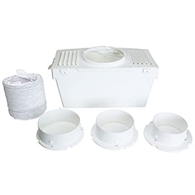 Lazer Electrics VT79 Universal Knight Beko Tumble Dryer Indoor Condenser Vent Kit Box with Hose, White