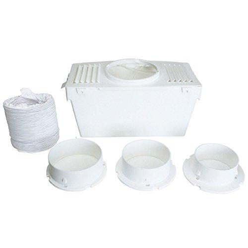 Lazer Electrics Kit universel pour sèche-linge d'intérieur Aération avec flexible Blanc VT79