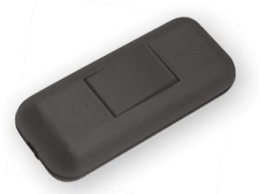 Schnur-Zwischenschalter Mit Schraubkontakten Schwarz, 2-polig, 2 A, 250 V~, Paßt für LED, SMD