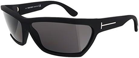 Tom Ford Unisex Sunglasses Rectangular Sasha, Black