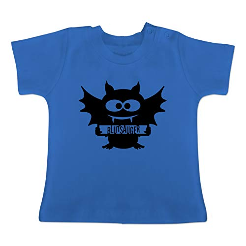 ermaus - 1-3 Monate - Royalblau - BZ02 - Baby T-Shirt Kurzarm ()