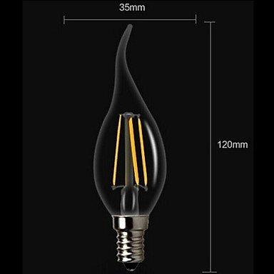 FDH 4W E14 LED bombillas de filamento CA35 4 COB 400 lm decorativo blanco cálido 220-240 V CA,E14
