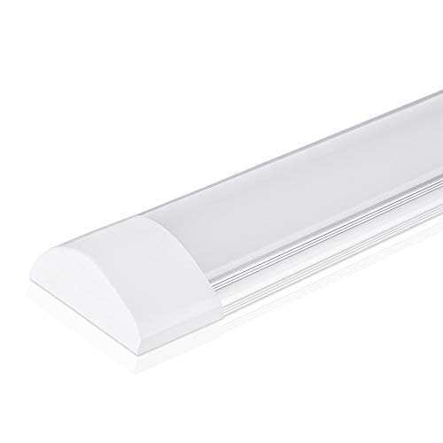 Lampada da soffitto a LED da 30W a luce 3ft 90CM, con 3600LM in bianco freddo 6000K Luce a stecca, angolo a fascio 130 ° plafoniera per bagno soggiorno cucina garage magazzino officina di pingouGo