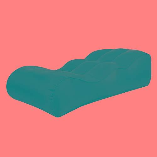 BUUYEJI Aufblasbare Liege mit Tasche und Taschen für drinnen/draußen - Blow Up Couch & aufblasbares Sofa mit Kopfstütze & Securi - Home-securi