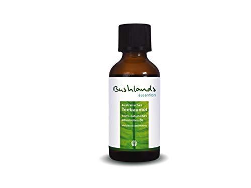 Bushlands essentials Teebaumöl 100ml - 100% naturreines, australisches ätherisches Öl - Gesicht, Aromatherapie-dusche