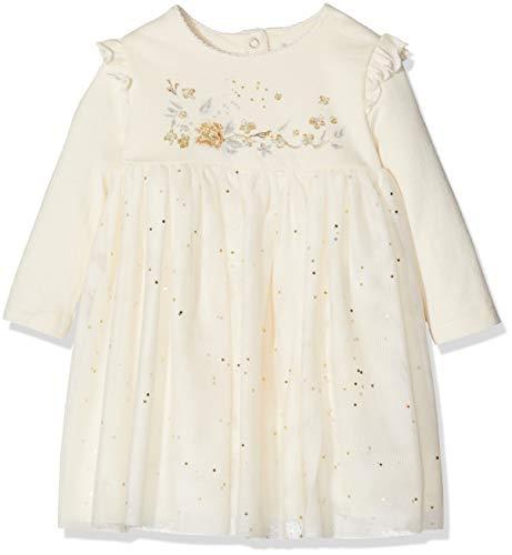 Petit Bateau Baby-Mädchen Kleid Robe ML, Elfenbein (Coquille 52), 6m/67cm