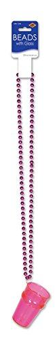 Beistle 50778-asst Perlen mit Glas, (P/B/PL/O/Y), 83,8cm 1Zählen (Geburtstag 21. Halskette Shot Glas)