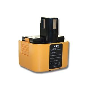 vhbw Ni-MH Battery 3300mAh (12V) for Tool ABB Stotz S & J cordless drill Superfix 220.