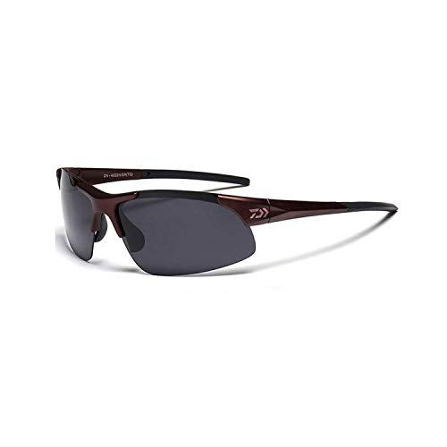 Vikimen Sportbrillen, Angeln Golfbrille,Cheap Wholesale DAIWA Brand Desigen High Quality UV400 Sunglasses For Driving Fishing Man Goggles Driving Sun Glasses Oculos Coffee
