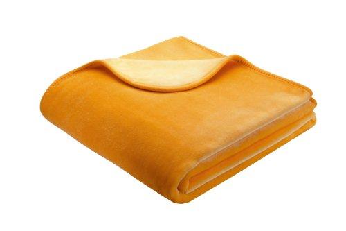 bhome-biederlack-150-x-200-cm-de-luxe-blanket-throw-yellow