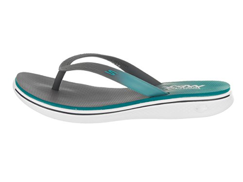 Skechers H2 Goga-lagoon, Bascule Donna Charcoal / Sarcelle