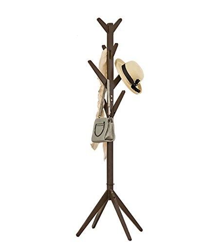 JIANFEI Perchero Piso De Pie Burro Las Ramas de los árboles Tienen Forma sólida Madera 8 Ganchos 4 piernas, 4 Colores, 40 * 173cm (Color : Oscuro Color café)