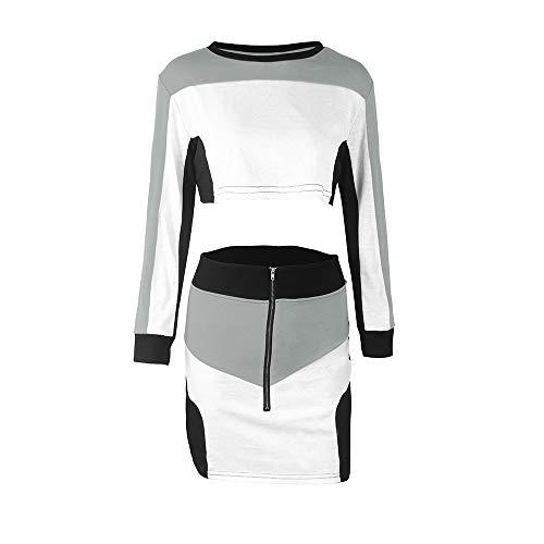 YULAND Damen Trainingsanzug Winter Jogginganzug Für Frauen, 2 Stücke Frauen Trainingsanzug Sweatshirt Rock Sets Sport Langarm Tragen Casual Anzug -