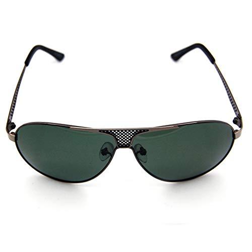 Yiph-Sunglass Sonnenbrillen Mode Herrenmode Fahren polarisierten Sonnenbrillen, Retro-Designer-Sonnenbrillen (Farbe : Dark Green)