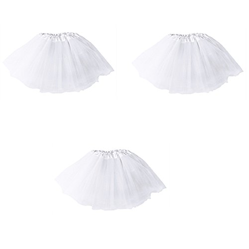 ü Minirock Organza Pettiskirt 3 Layers Petticoat Tanzkleid Unterrock Perfekt für Fasching (Marineblau) (Womens Tutu)