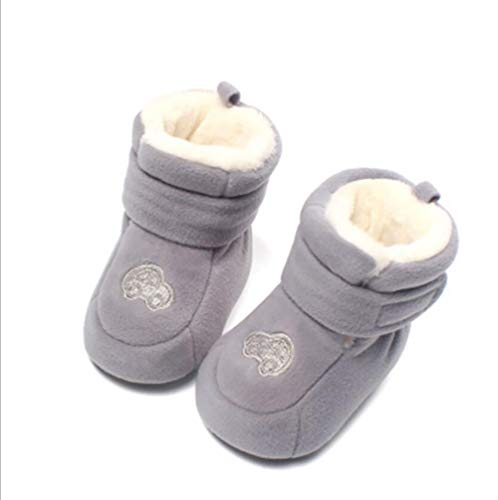 Baby-kalb Schuhe (Baby Plüsch Schnee Stiefel,Tukistore Weiche Sohle Anti-Rutsch Mid Kalb Krippe Schuhe Babyschuhe Für 0-12 Monate Baby)