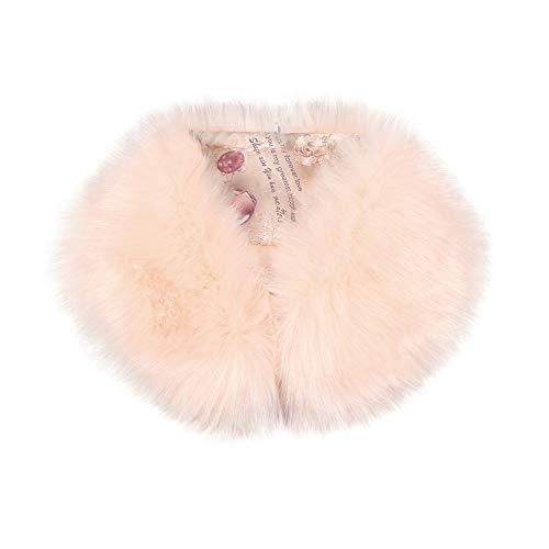 Odjoy-fan sciarpa delle donne moda imitazione della pelliccia sciarpe-sciarpa stola- crinkle sciarpa- morbida plaid coperta square con nappe decorative elegante cerimonia grande
