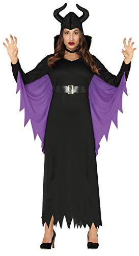 Kostüm Maleficent' Aurora Von - Fiestas Guirca 88318 Kostüm Regina Malefica Damen Adult Größe M, Schwarz und Viola, M