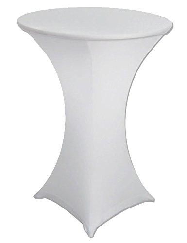 antuen rund Cocktail Tisch Bezug Spandex Stretch Tischdecke, Spandex, weiß, 28x43 -