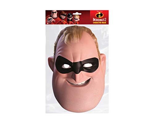 empireposter The Incredibles - Mister - Papp Maske aus hochwertigem Glanzkarton mit Augenlöchern, Gummiband - Größe ca. 30x21 cm - Pappmaske, Prominentenmaske, Funmaske, Tiermaske