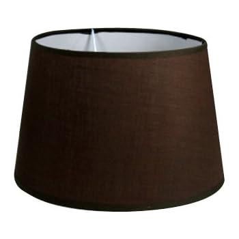 Litecraft Brown Drum Lamp Shade 25cm Amazon Co Uk