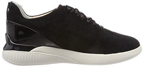 Geox Damen D Theragon C Sneaker Schwarz (Black)