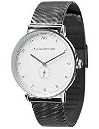 ALEXANDER GRAY Uhr ABU DHABI – Silberne Armbanduhr mit leichtem geschmeidigen Mesh-Armband und ultradünnem Gehäuse – So geht zeitloser Minimalismus