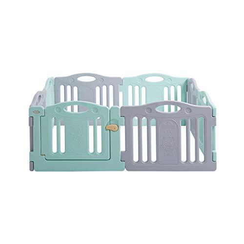 LIUFS-Clôture Clôture de jeu pour enfants Apprentissage intérieur et extérieur Marche Ramper Protection anti-chute Ménage Gris Vert (Couleur : 7+1 Fence)