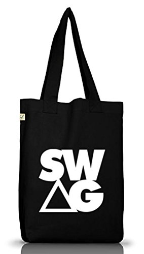 Shirtstreet24, Swag Triangle, Swagger Rap Hip Hop Money Jutebeutel Stoff Tasche Earth Positive Black