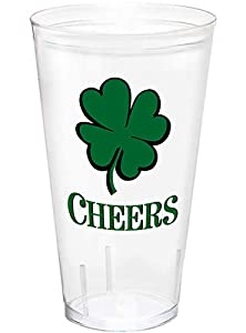 Amscan International 420166 - Vaso para recuerdo de San Patricio (591 ml, 12 unidades), color verde