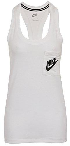 Nike W NSW Signal Tank - Camiseta de tirantes para mujer, color blanco, talla L
